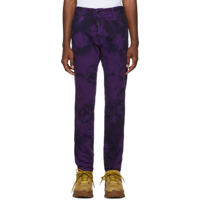 Photo: Dsquared2 Purple Tie-Dye Cool Guy Jeans