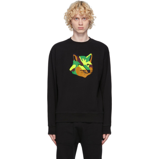 Photo: Maison Kitsune Black Neon Fox Sweatshirt