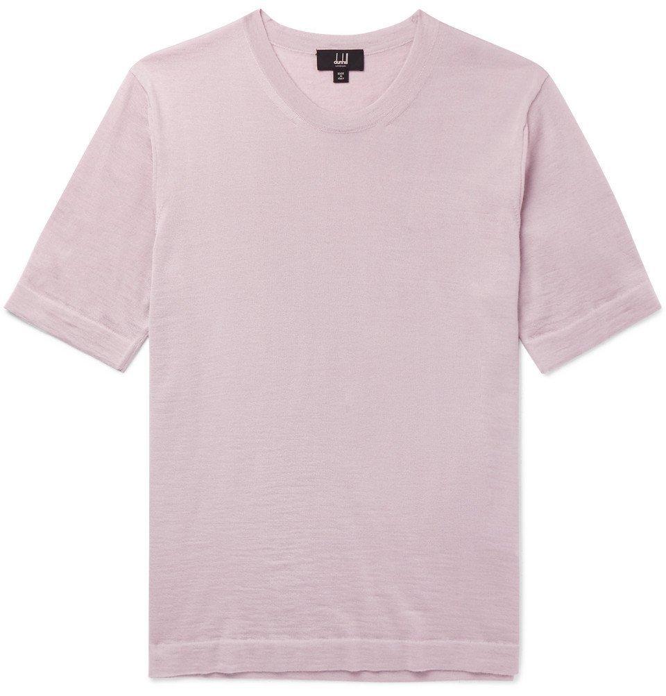 Dunhill - Cashmere T-Shirt - Lilac