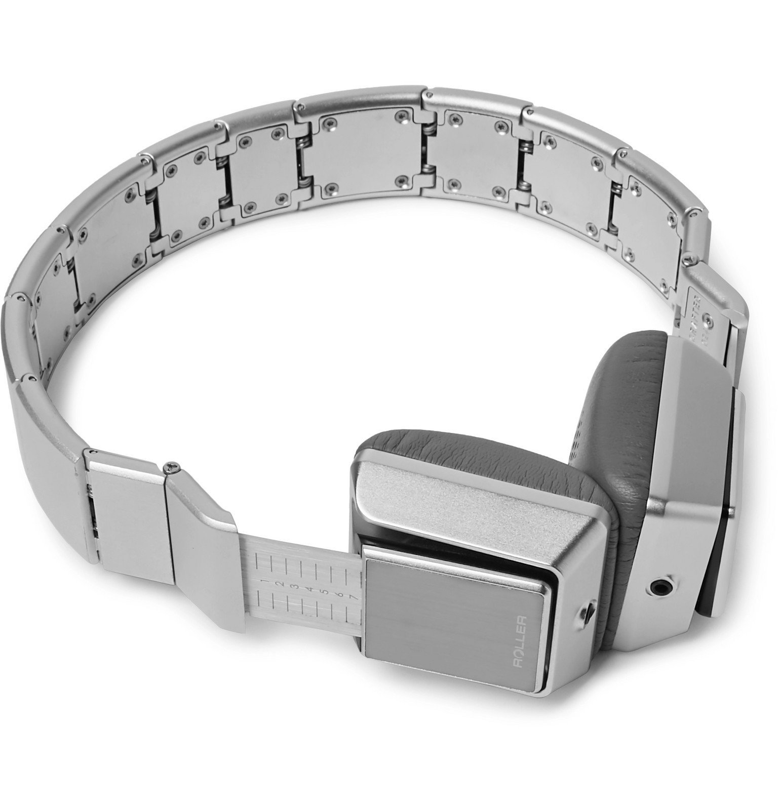 Photo: LUZLI - Roller MK01 Foldable Aluminium and Stainless Steel Headphones - Silver