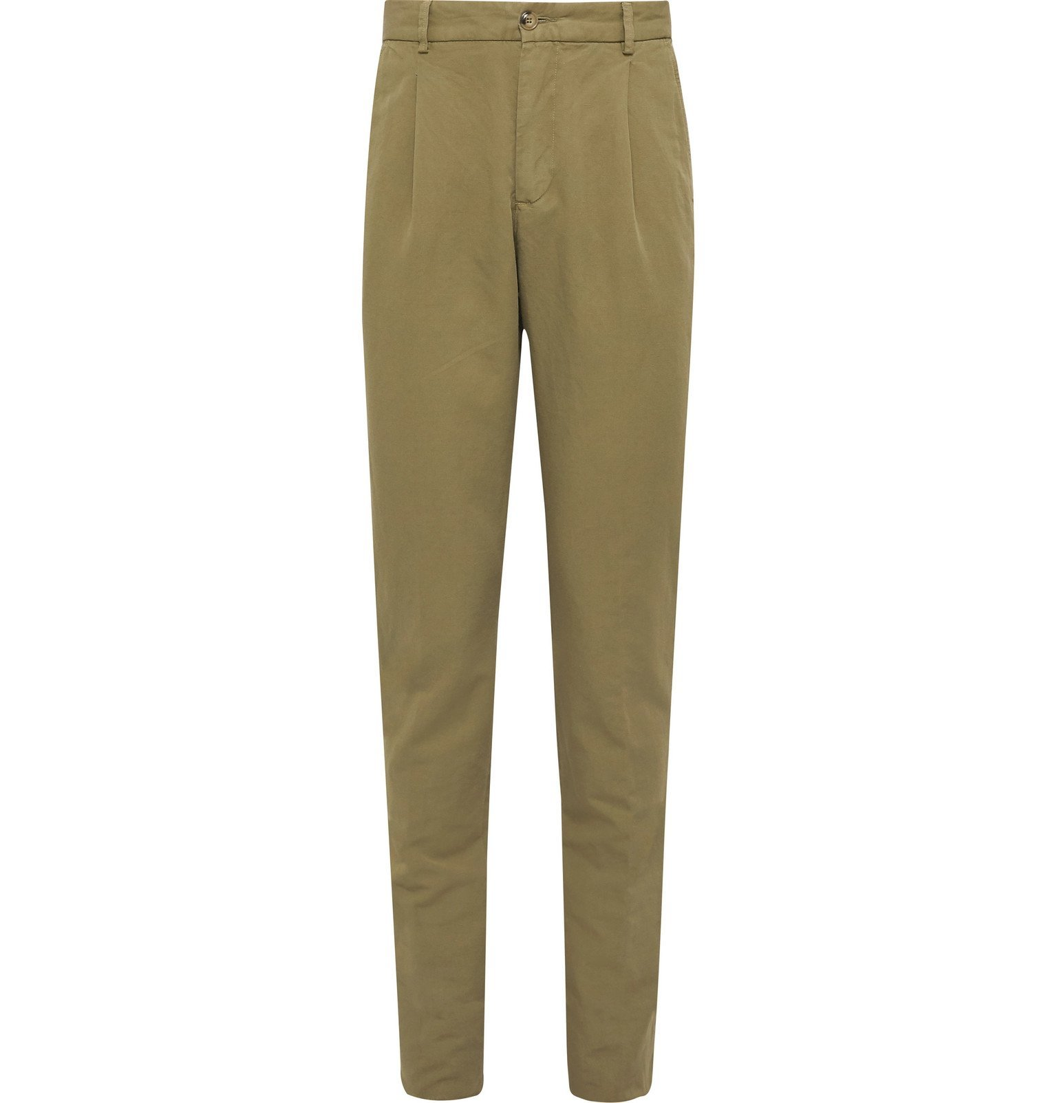 Photo: MAN 1924 - George Linen and Cotton-Blend Suit Trousers - Green