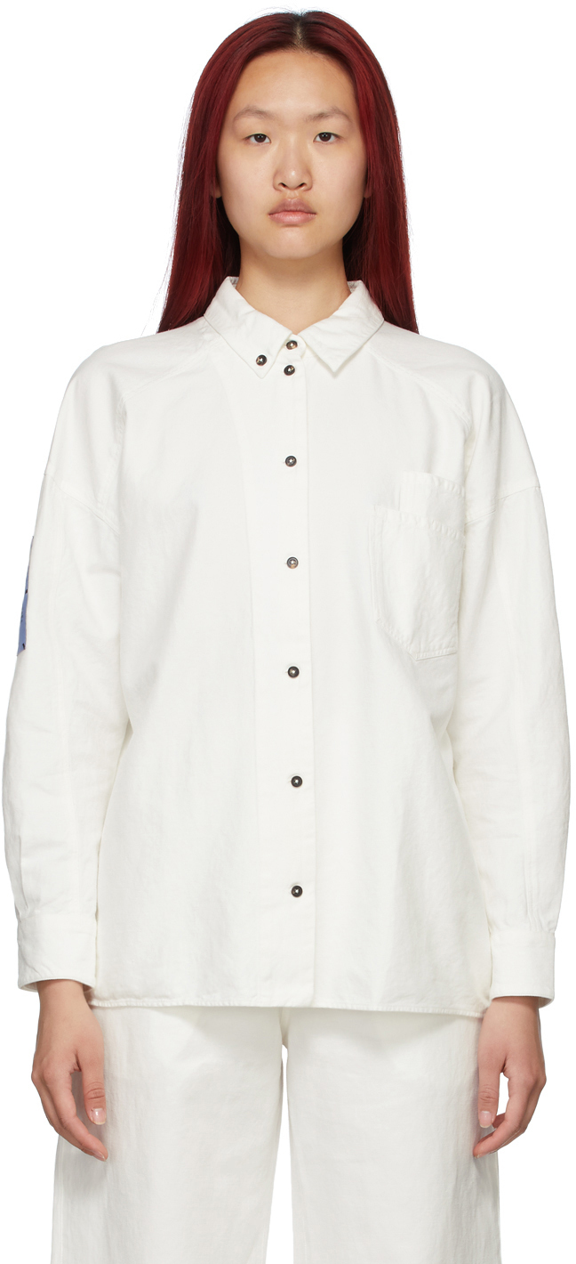 MCQ Off-White Double-Placket Shirt