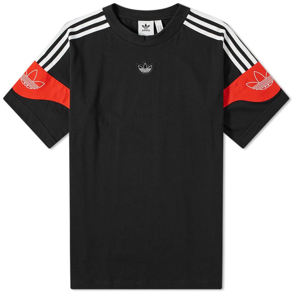 Photo: Adidas TS Trefoil Tee Black & Red