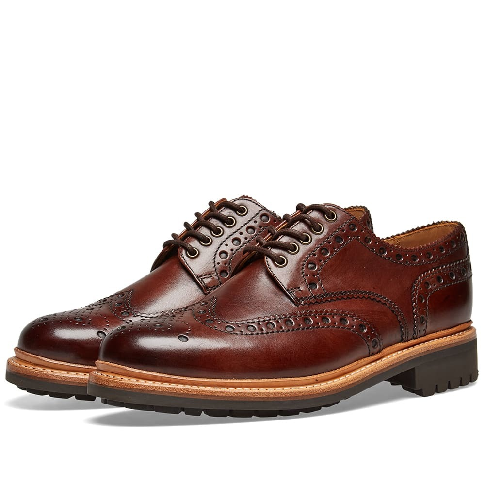 Photo: Grenson Archie C Brogue Brown Hand Painted