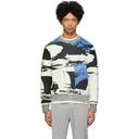 3.1 Phillip Lim Black and Blue Jacquard Sweatshirt
