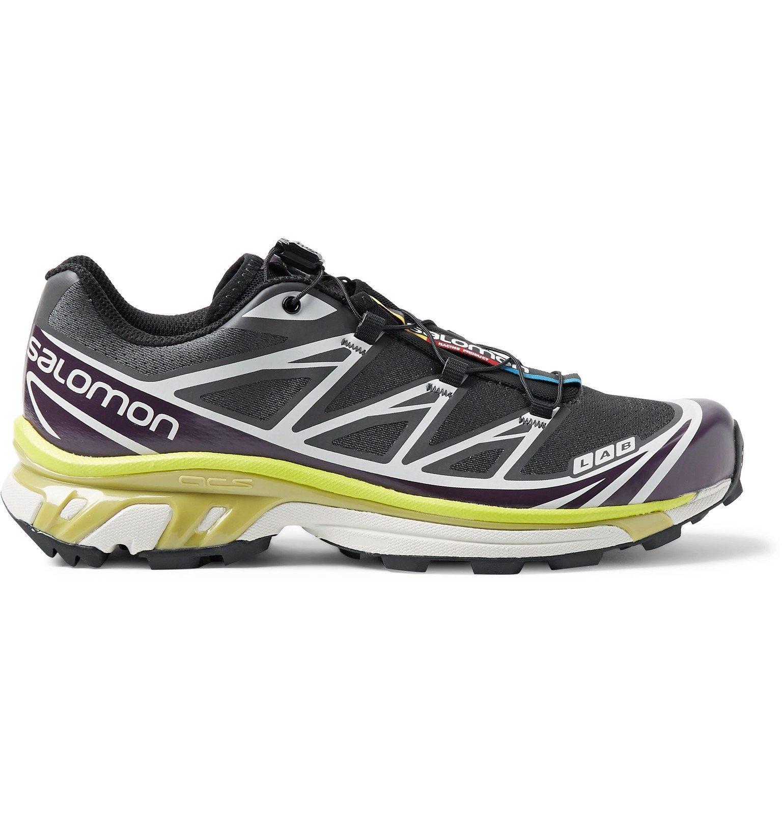 Photo: Salomon - XT-6 ADV Mesh and Rubber Running Sneakers - Gray