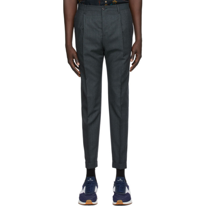 Photo: PS by Paul Smith Navy Check Trousers