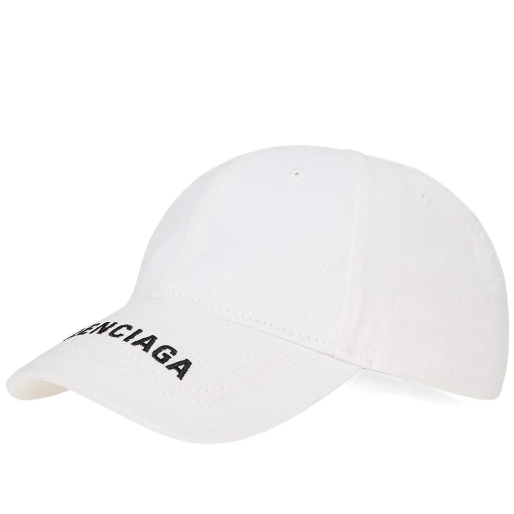 Photo: Balenciaga Visor Logo Cap White