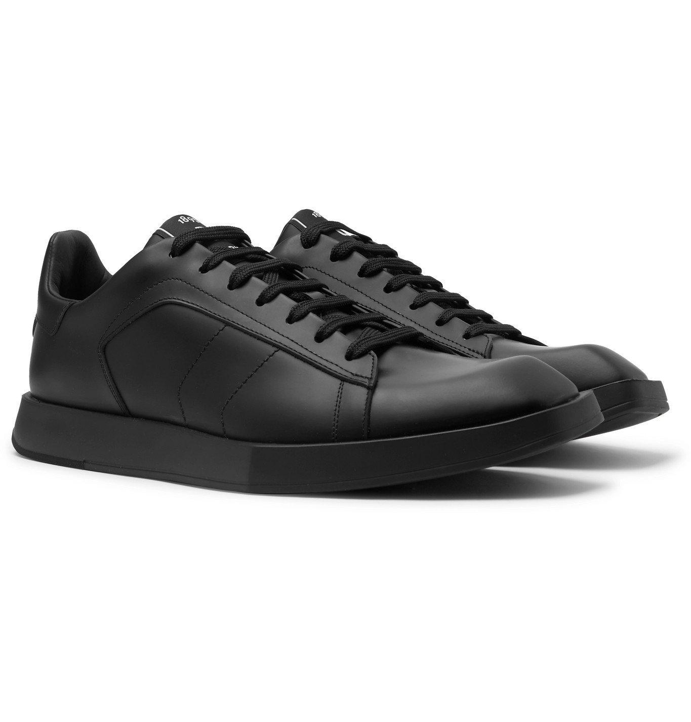 Photo: Berluti - Logo-Print Leather Sneakers - Black