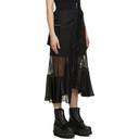 Sacai Black Patch Combo Skirt