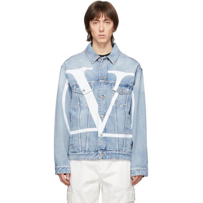 Photo: Valentino Blue Denim VLogo Jacket