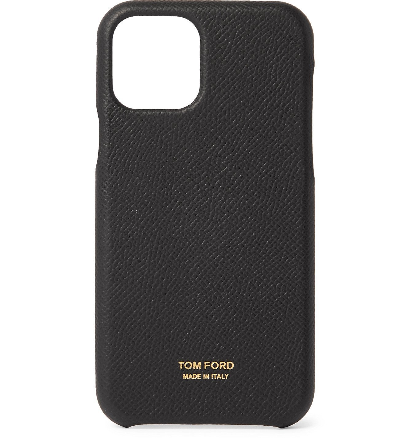 Photo: TOM FORD - Full-Grain Leather iPhone 11 Case - Black