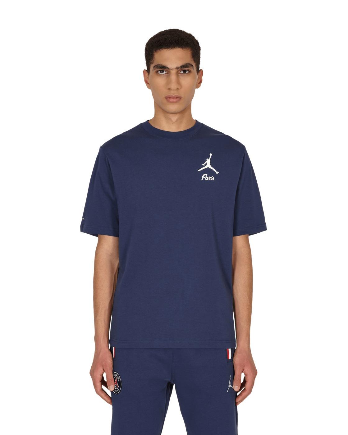 Photo: Nike Jordan Paris Saint Germain T Shirt Midnight Navy