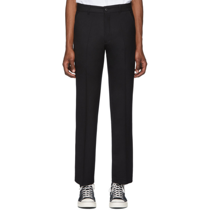 Photo: Second/Layer Black Wool Vintage Boot-Cut Trousers