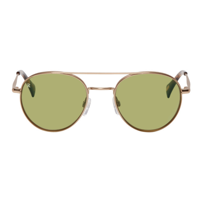 Photo: RAEN Gold and Green Aliso Sunglasses