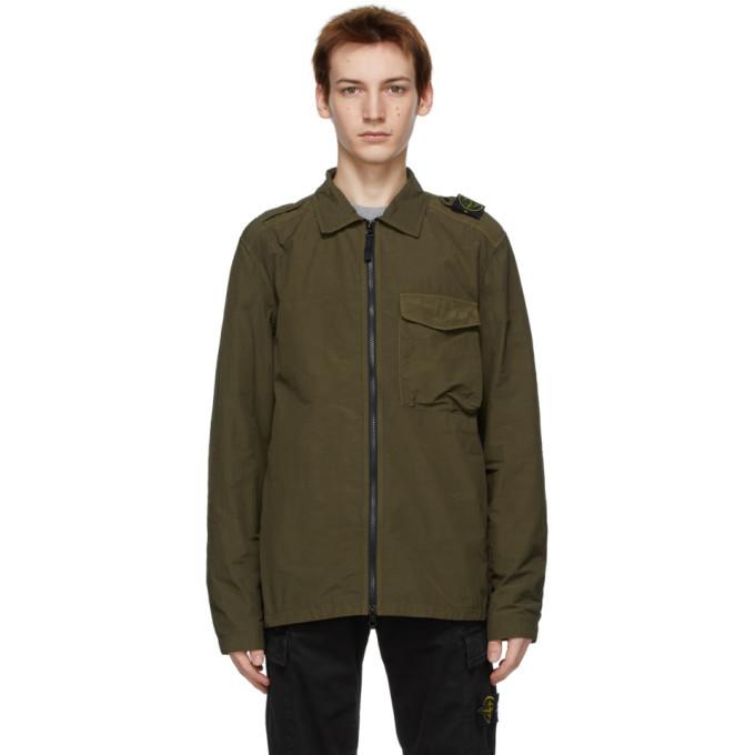 Photo: Stone Island Green Nylon Zip Jacket