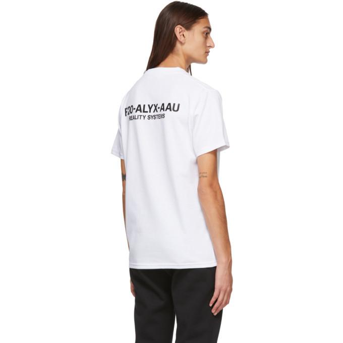 1017 ALYX 9SM White Visual Logo T-Shirt