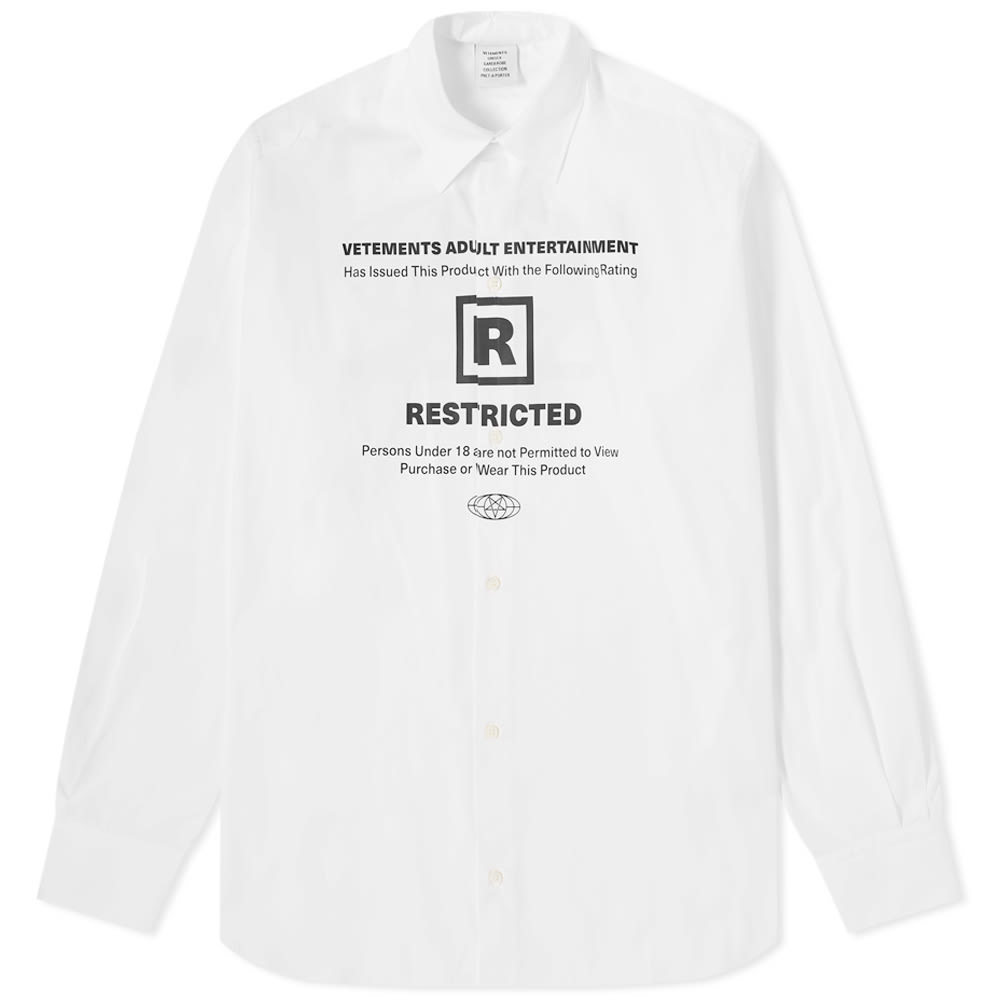 Photo: VETEMENTS 18+ Restricted Shirt