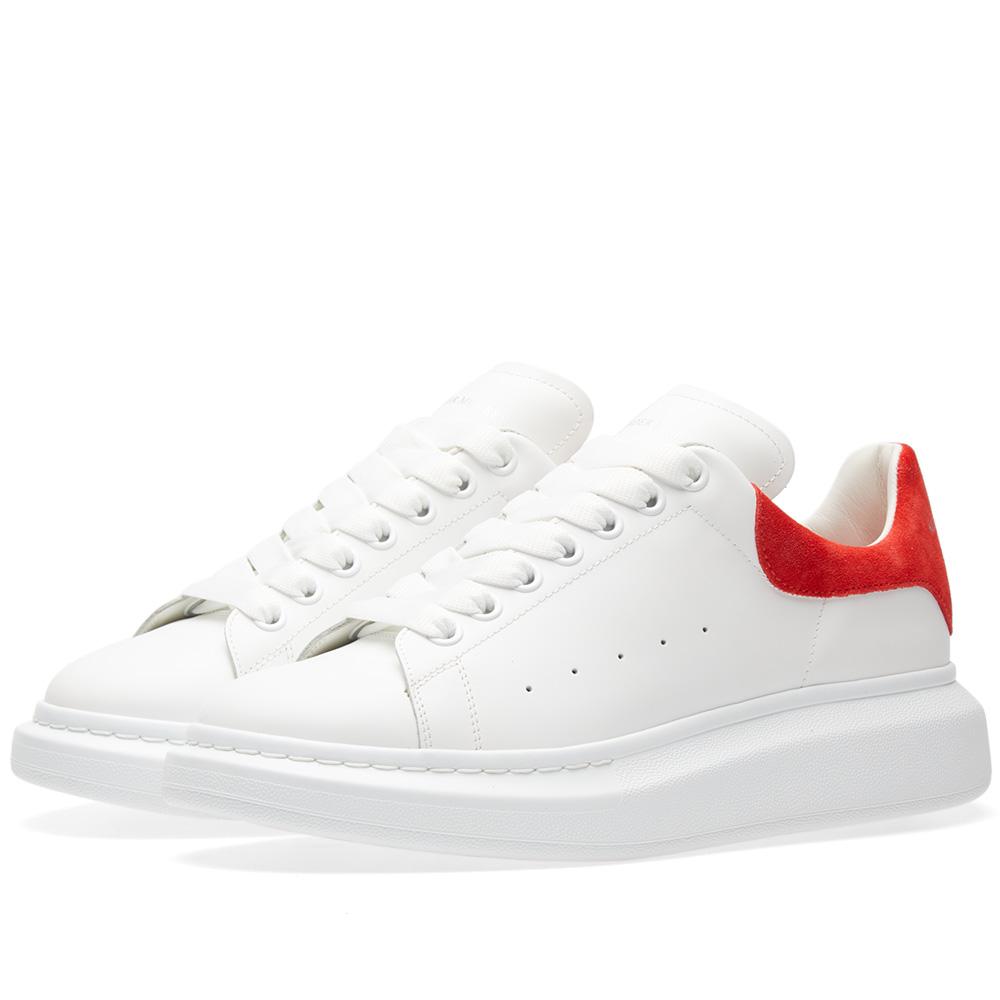 Photo: Alexander McQueen Wedge Sole Suede Heel Tab Sneaker