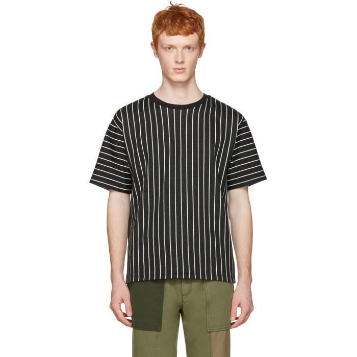 3.1 Phillip Lim Black Pinstripes T-Shirt