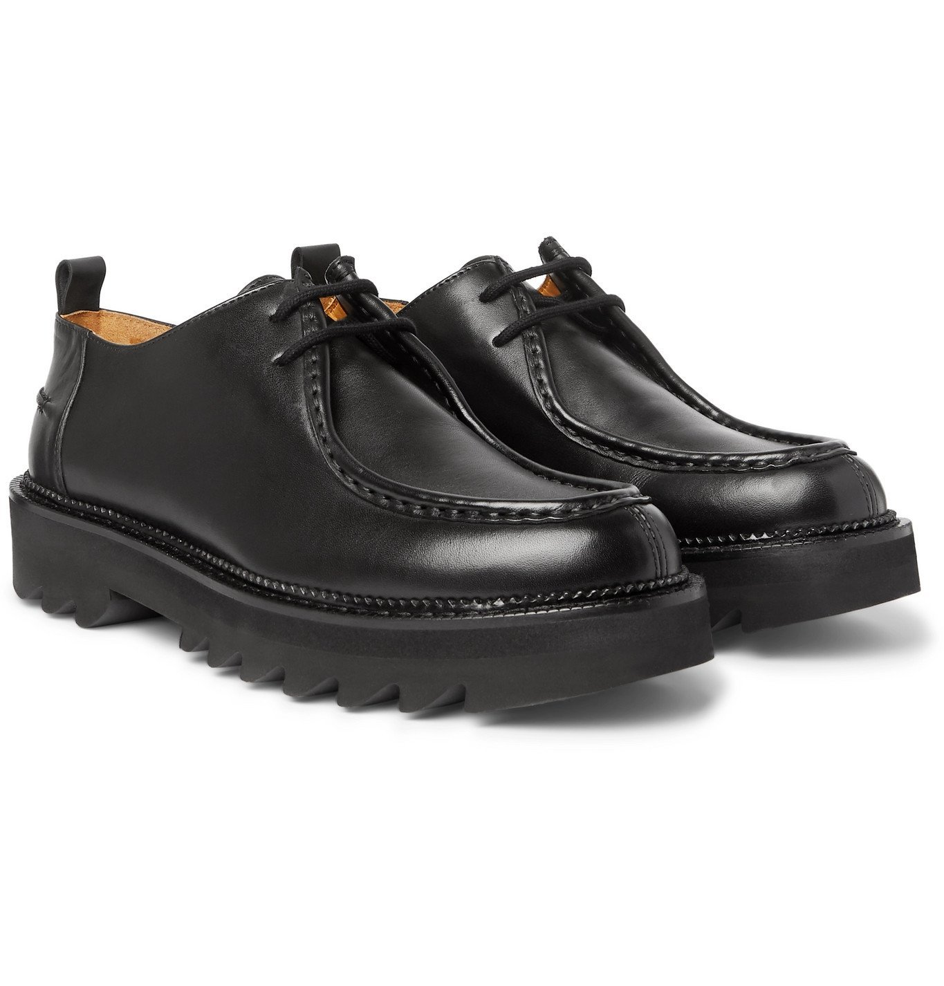 AMI - Leather Derby Shoes - Black