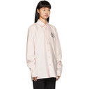 Raf Simons Pink Embroidered Slim Fit Collared Shirt