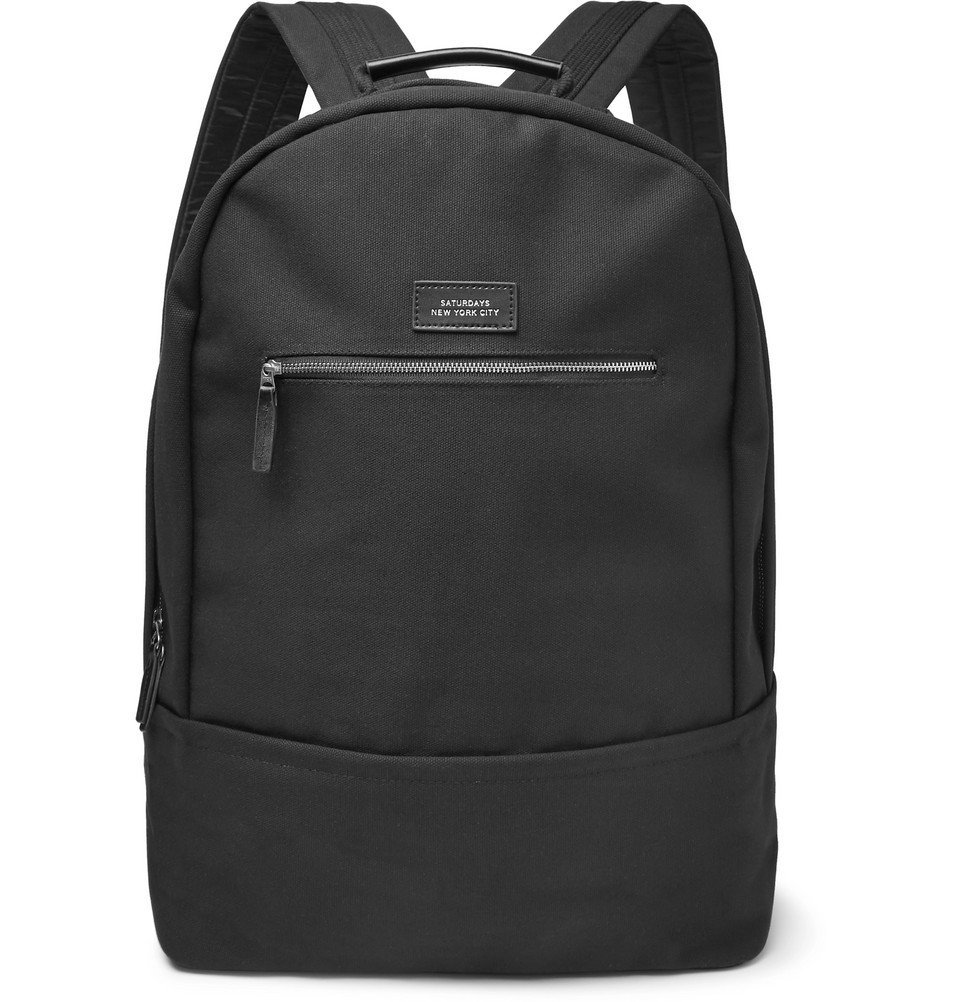 Photo: Saturdays NYC - Hannes Cotton-Canvas Backpack - Black