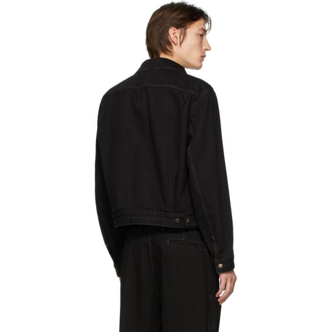 Lemaire Black Denim Trucker Jacket