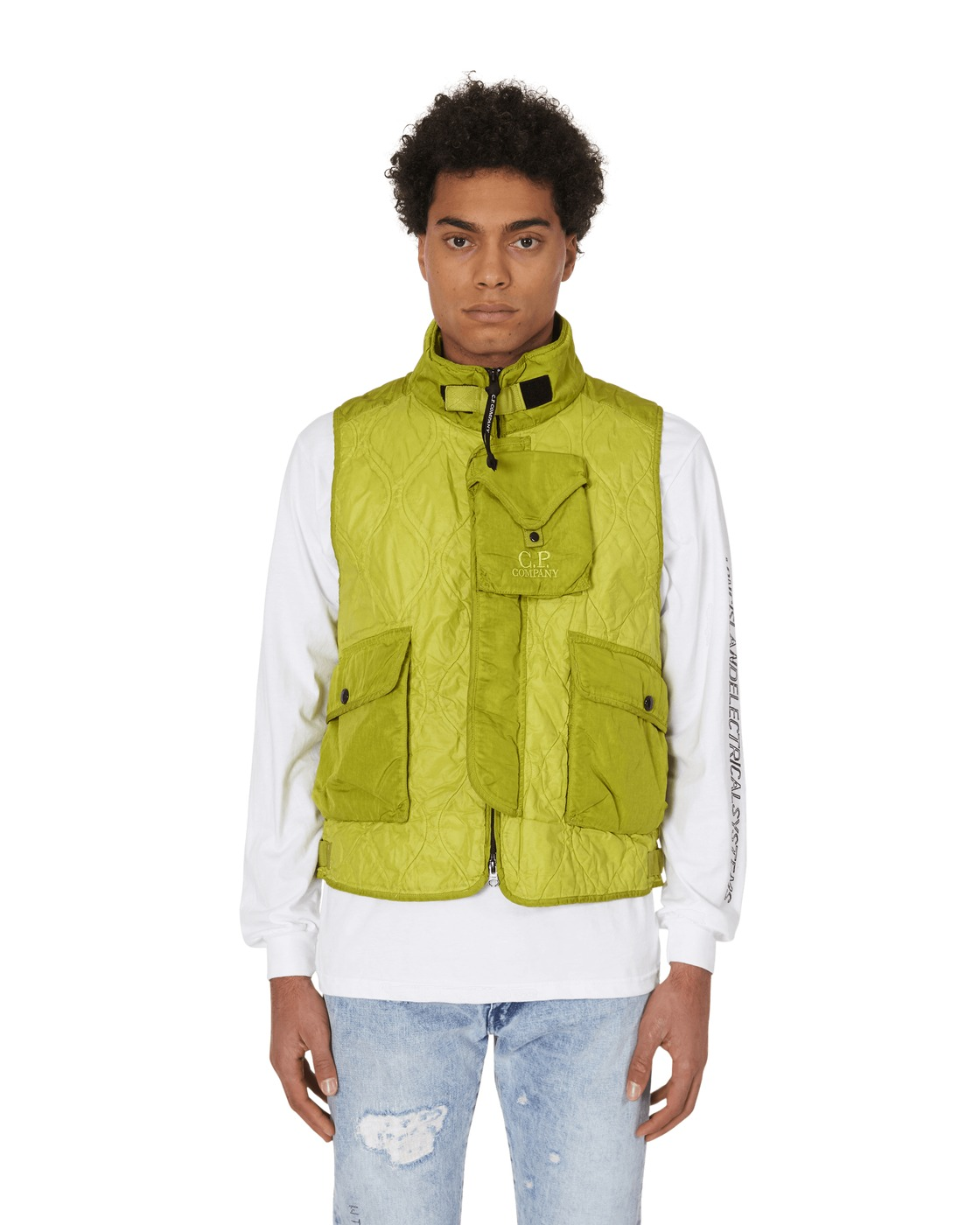 C.P. Company Multi Pocket Vest Sulphur Spring