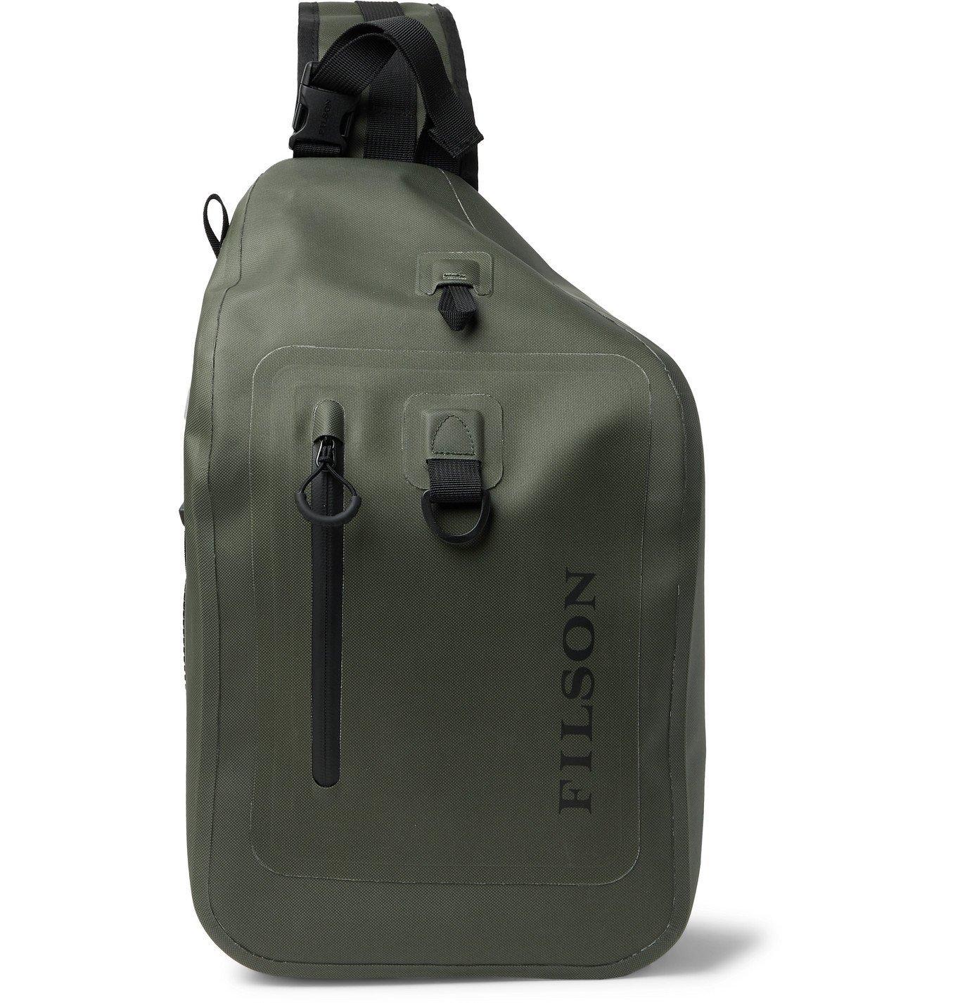 Photo: Filson - Logo-Print TPU-Coated 840D Nylon Dry Sling Backpack - Green