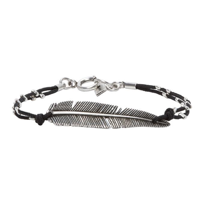 Photo: Isabel Marant Silver and Black Feather Bracelet