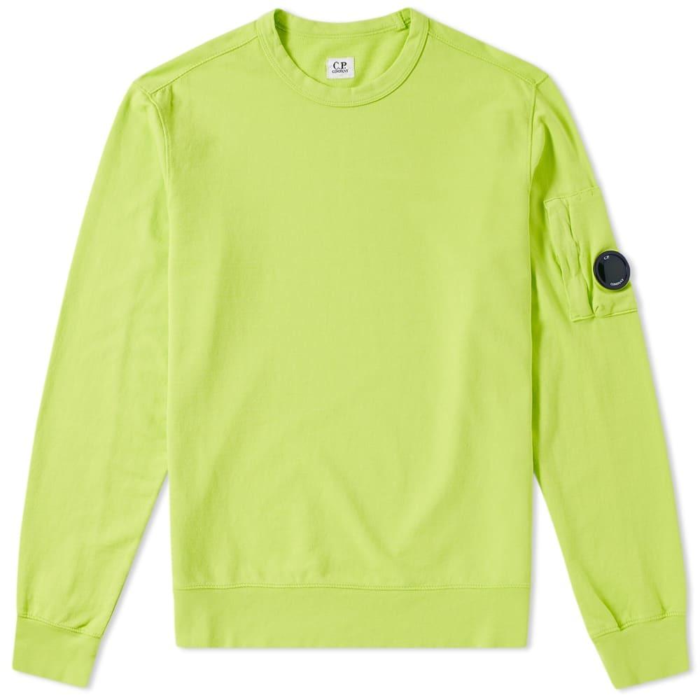 C.P. Company Garment Dyed Light Fleece Arm Lens Sweat Yellow