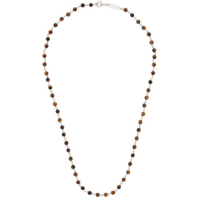 Photo: Giorgio Armani Brown and Silver Bead Necklace