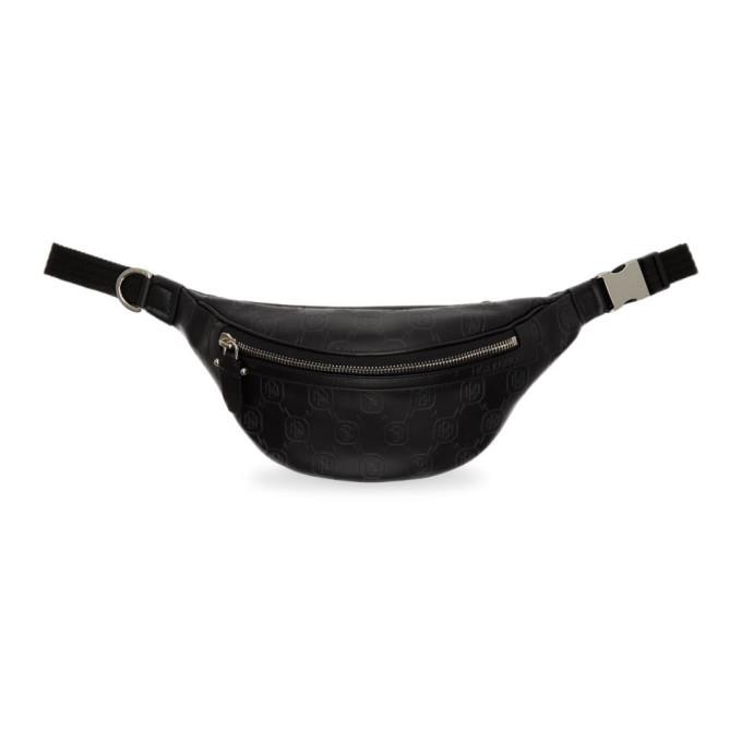 Photo: Neil Barrett Black Leather Monogram Belt Bag