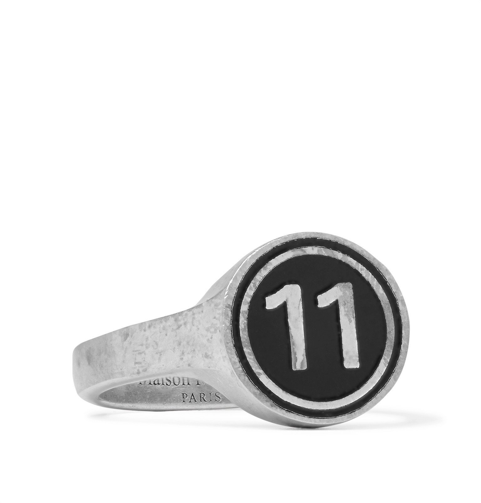 Photo: Maison Margiela - Sterling Silver and Enamel Ring - Silver