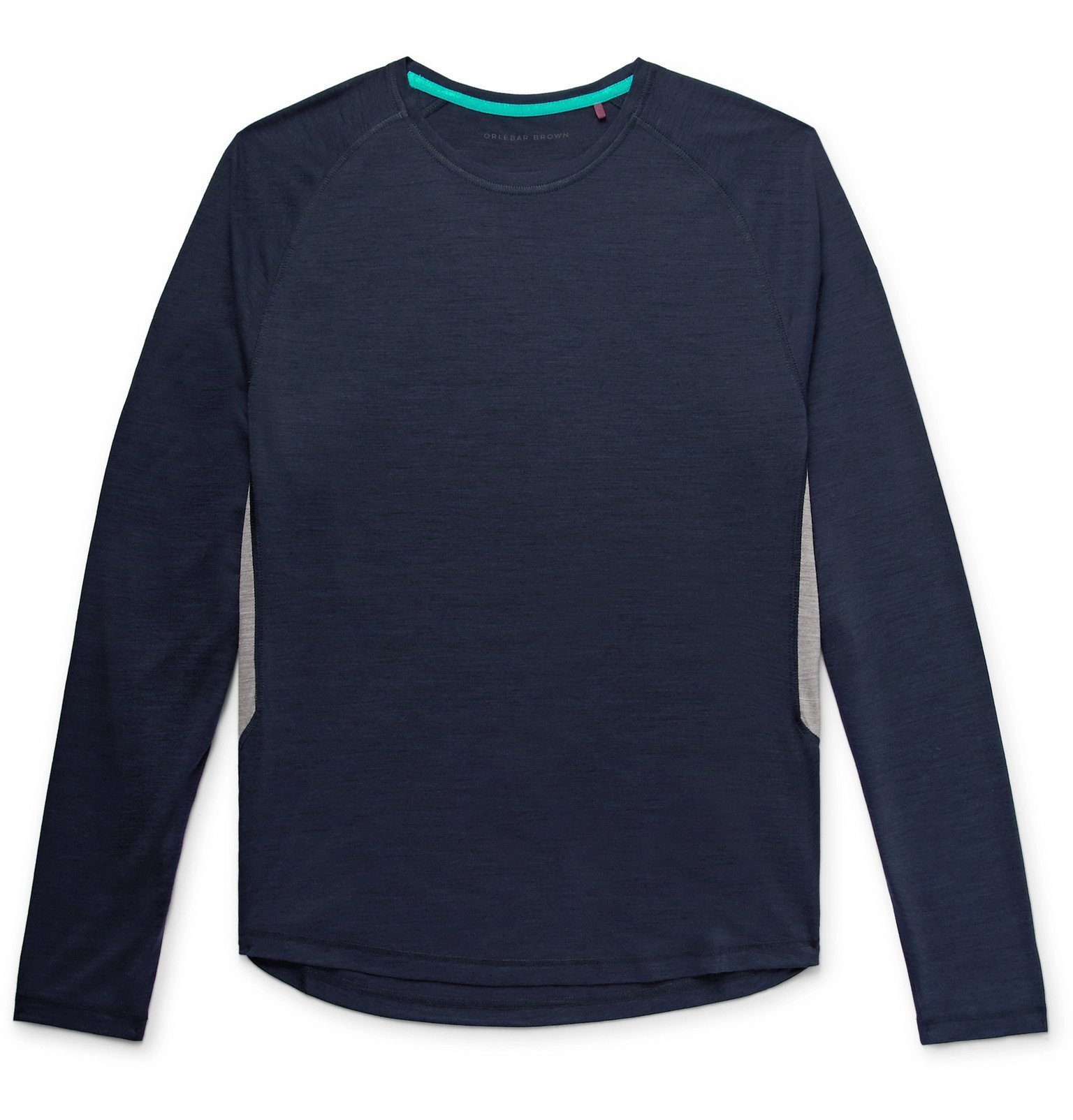 Photo: Orlebar Brown - Ottley Merino Wool and ThermoCool-Blend T-Shirt - Blue