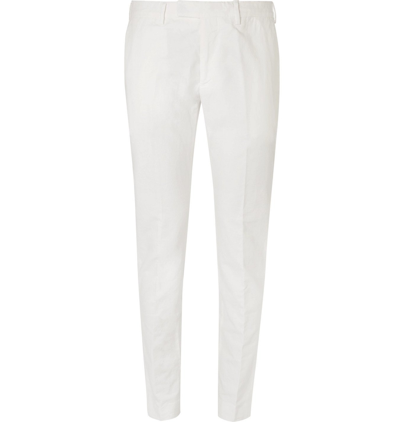Photo: SALLE PRIVÉE - Gehry Cotton and Linen-Blend Chinos - White
