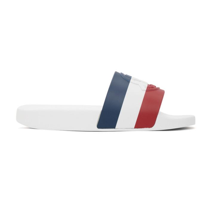 Photo: Moncler White Basile Slides