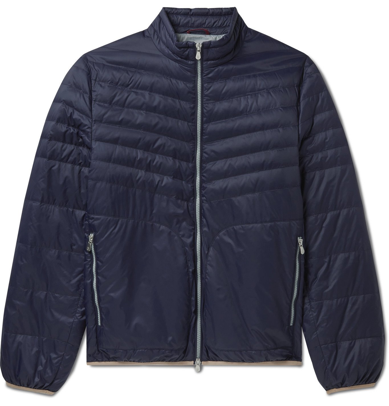 Photo: Brunello Cucinelli - Quilted Nylon Down Jacket - Blue