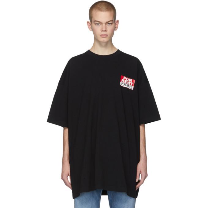 Photo: VETEMENTS Black For Rent T-Shirt