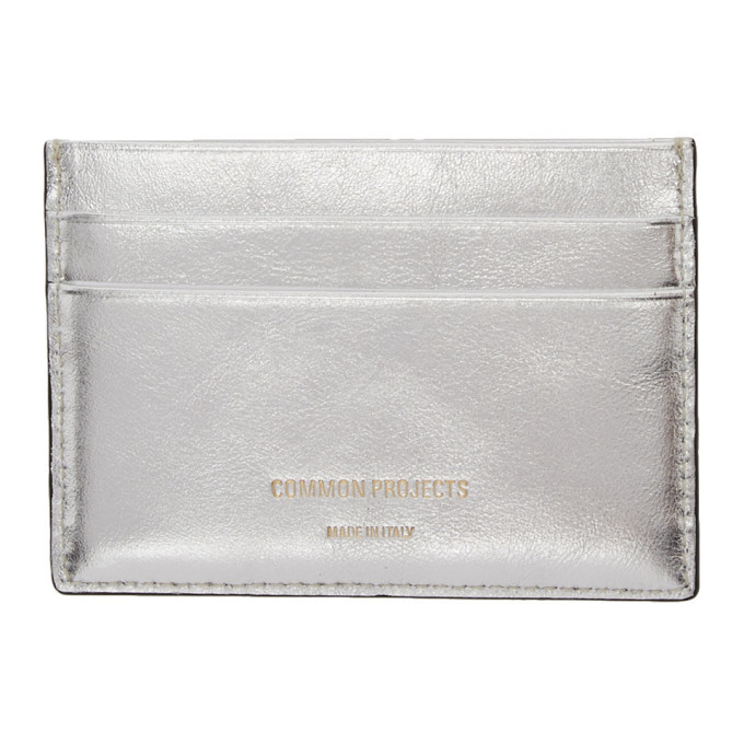 Photo: Common Projects Silver Multi Card Holder
