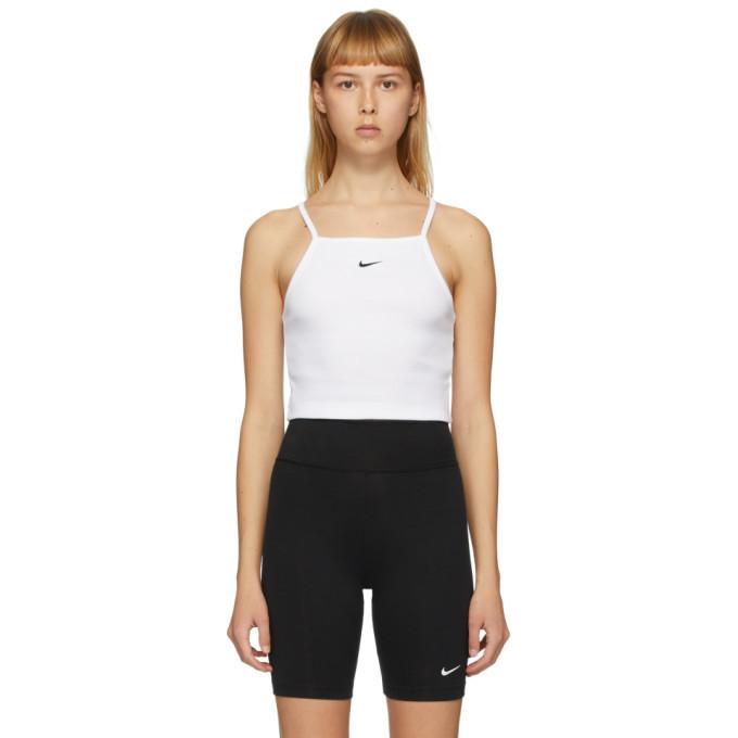 Photo: Nike White Sportswear Essential Tank Top