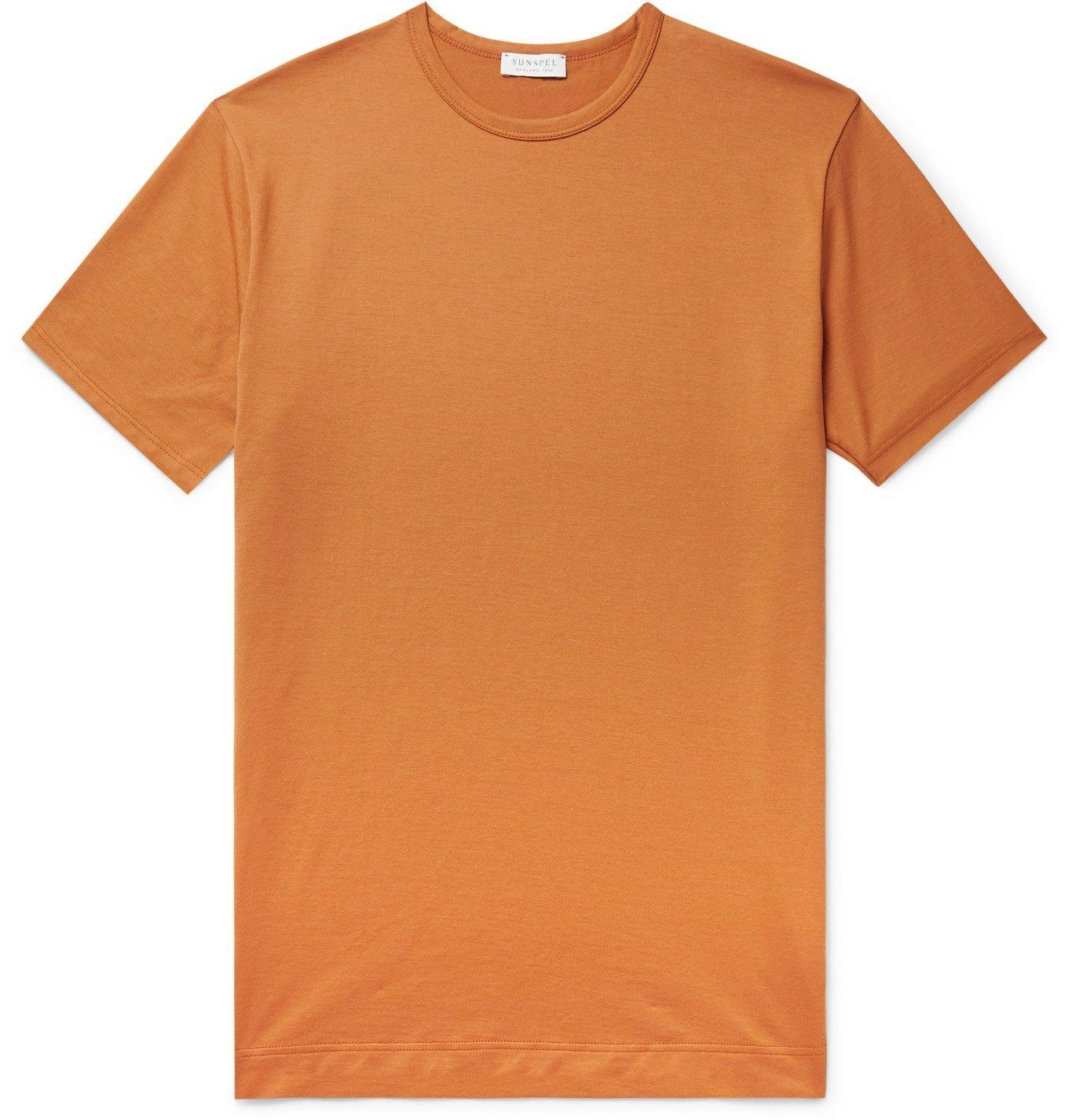 SUNSPEL - Slim-Fit Cotton-Jersey T-Shirt - Orange