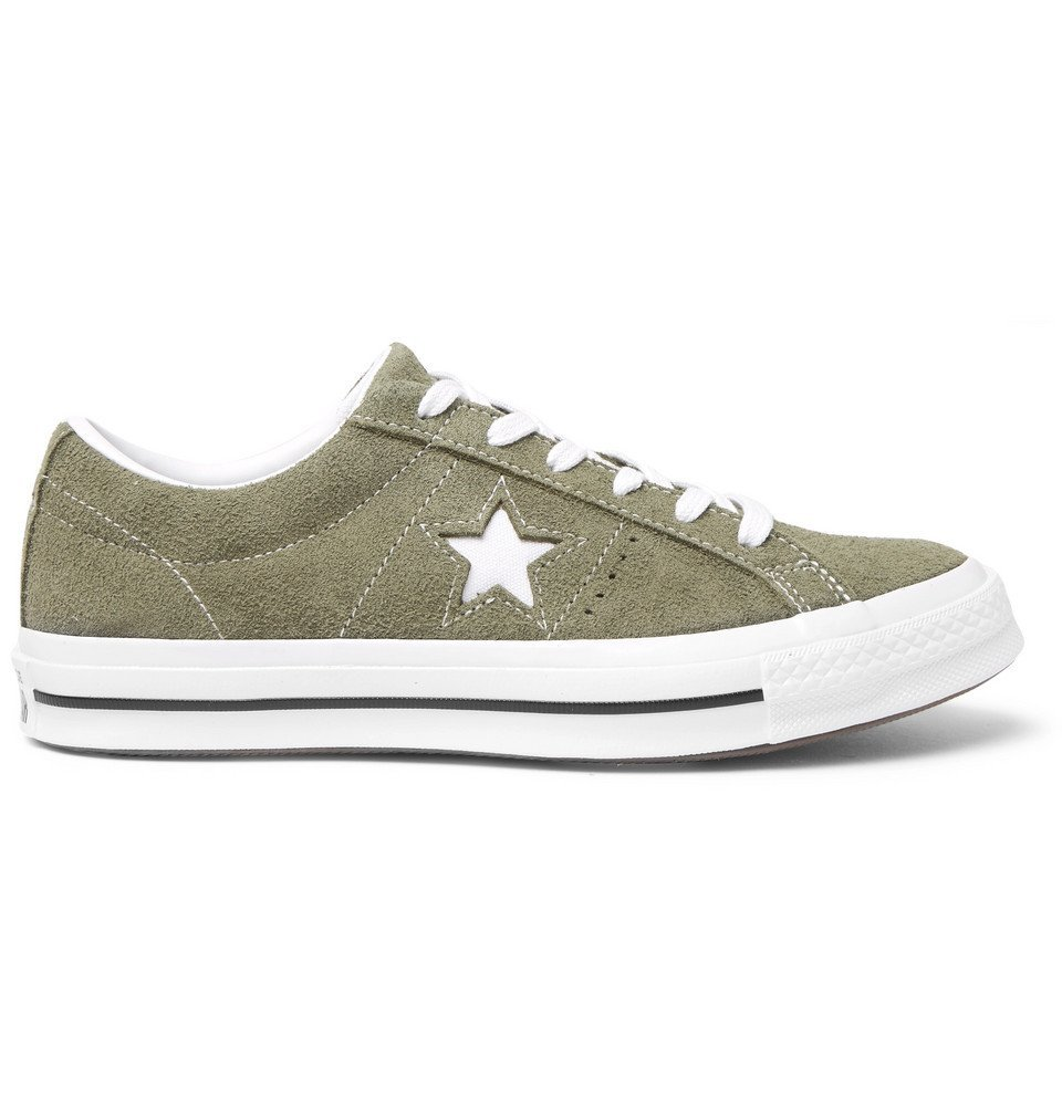 Photo: Converse - One Star OX Suede Sneakers - Green