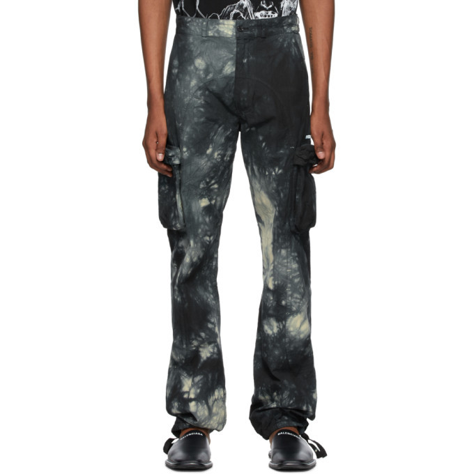 Photo: Off-White Blue Tie-Dye Contour Cargo Pants