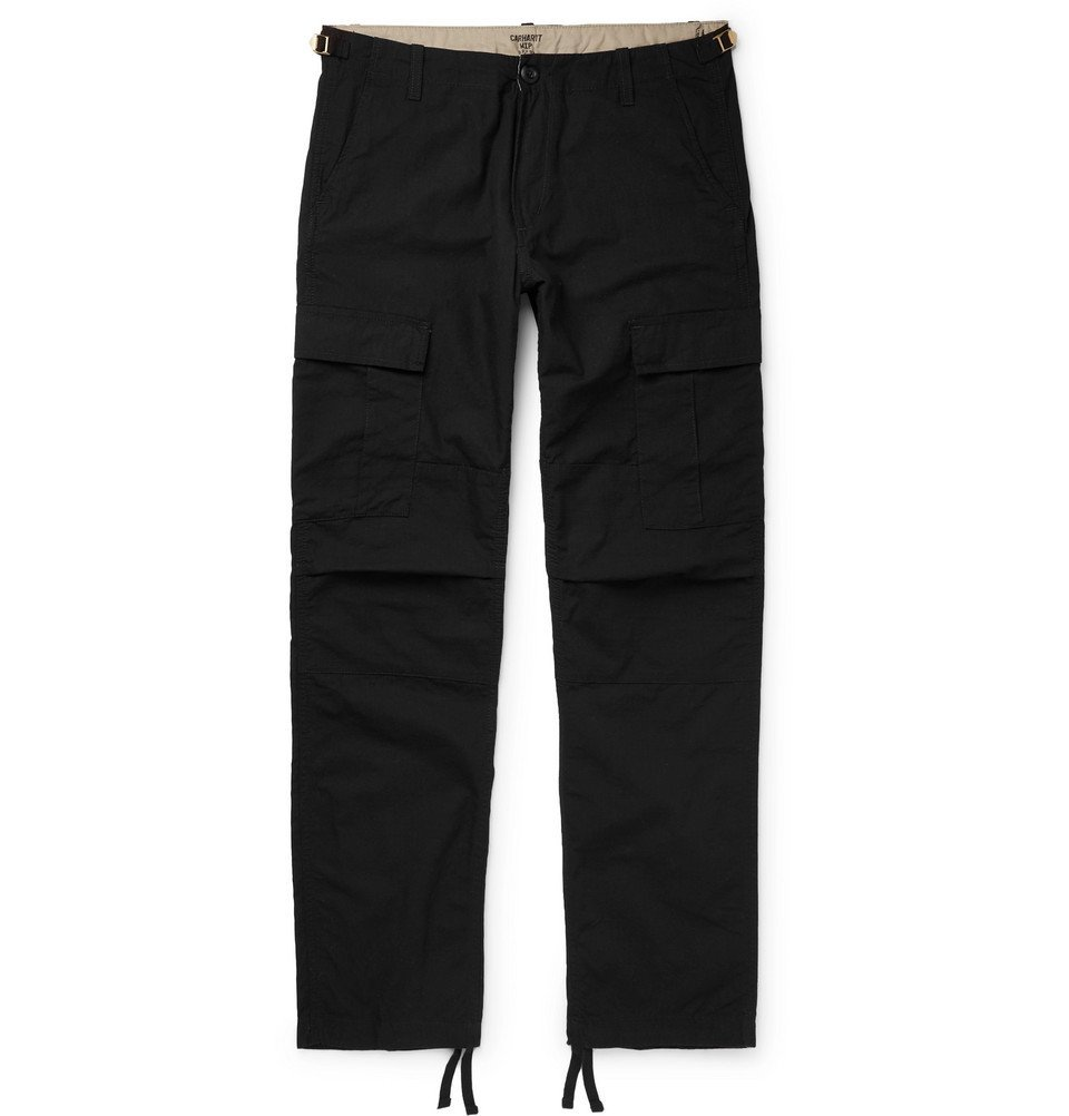 Photo: Carhartt WIP - Aviation Slim-Fit Cotton-Ripstop Cargo Trousers - Black