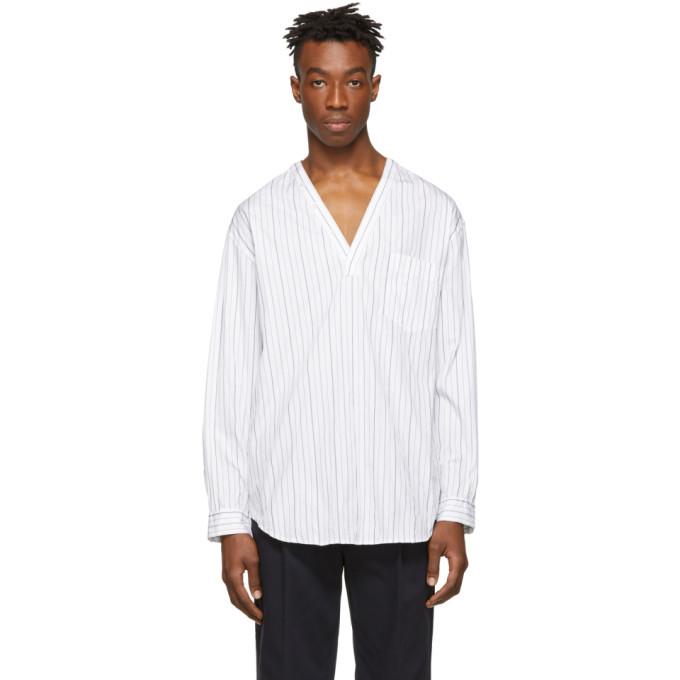 3.1 Phillip Lim White V-Neck Shirt