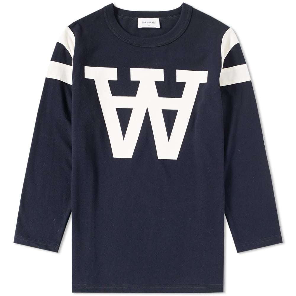 Wood Wood Long Sleeve William Tee Blue