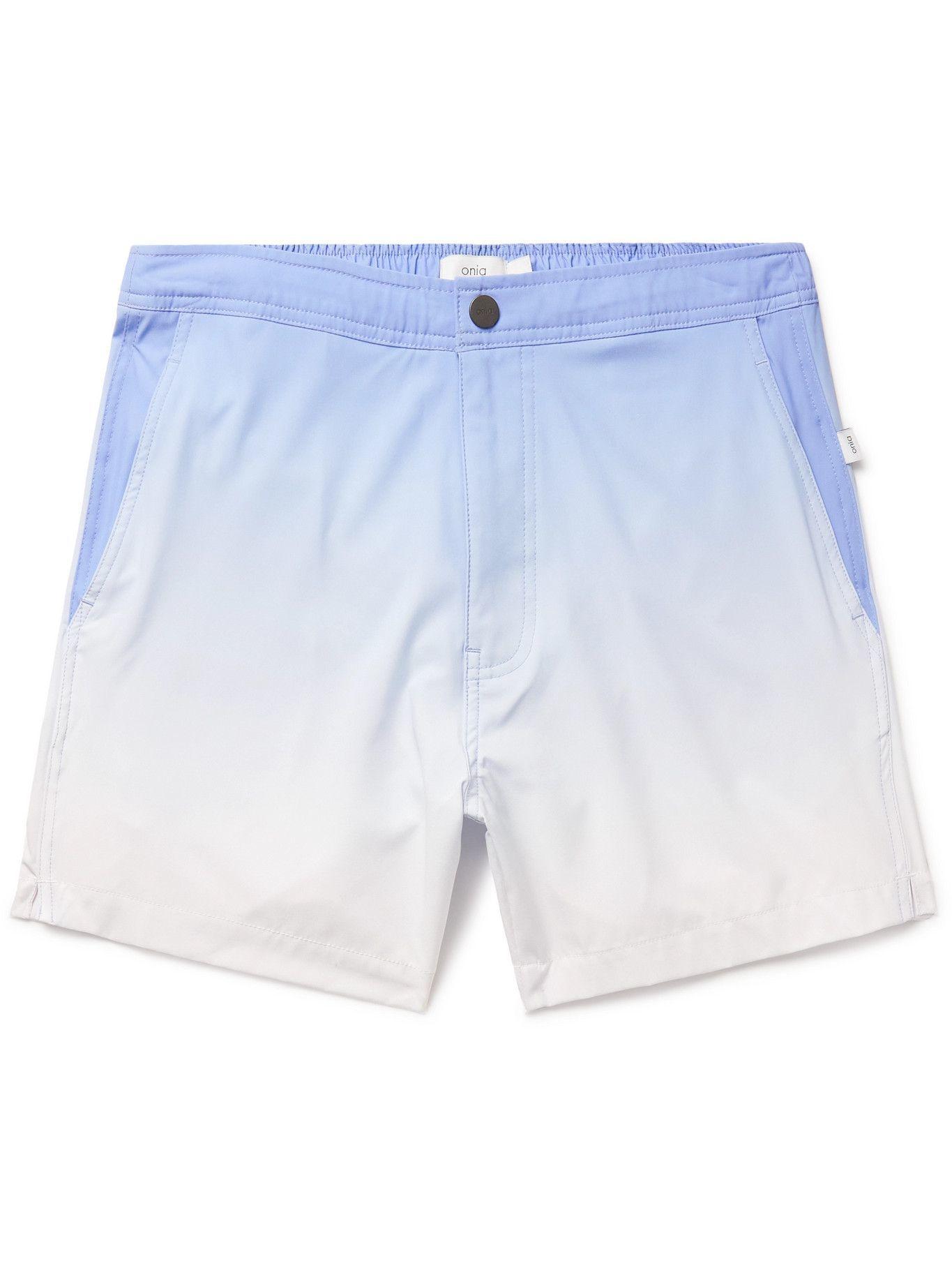 Photo: Onia - Calder Mid-Length Ombré Swim Shorts - Blue