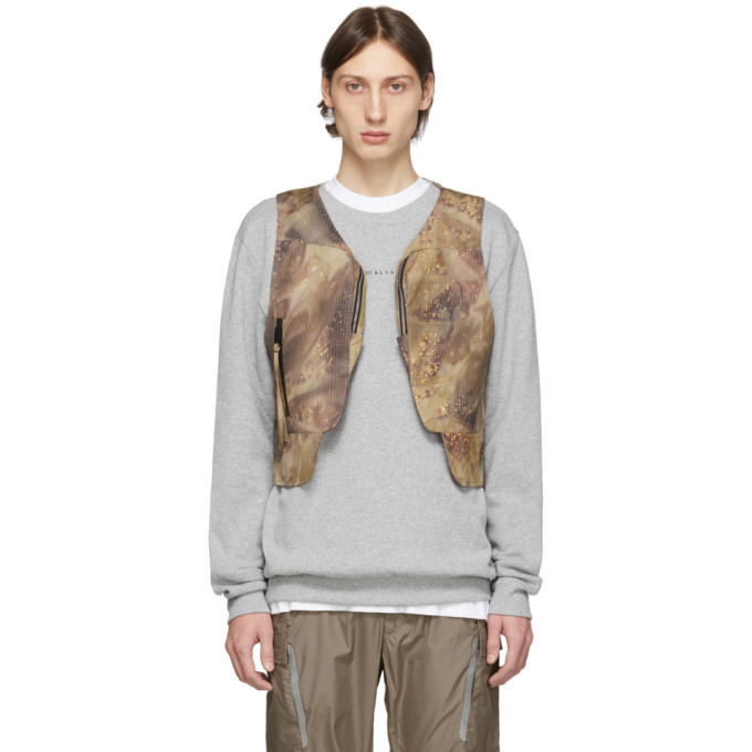 Photo: 1017 ALYX 9SM Beige and Brown Camo Vest